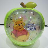 【厂家直销】可爱水果型迪士尼带夜灯闹钟 精巧简约时尚 热销批发