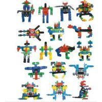 儿童益智玩具 塑料拼图积木 变形金刚好乐积木TC018-TC022