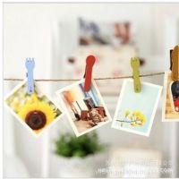 创意生活西餐工具木质照片夹子批发 留言夹 便利贴夹