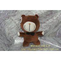 领带复古泰迪熊 可爱玩偶挂件 毛绒玩具熊