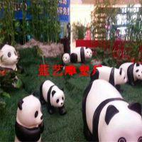 仿真熊猫雕塑|玻璃钢熊猫雕塑|厂家直销玻璃钢雕塑