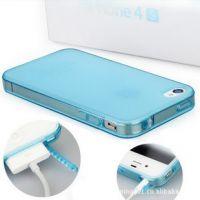 厂家批发 苹果iphone4s手机壳 tpu带防尘塞保护套 产地货源