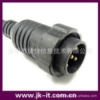 供应自产 M36 大电流 3芯 圆形防水 带锁连接器