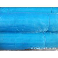 厂家直销~涤纶窗纱 素色天蓝背景  印花黑熊猫吃绿竹图案