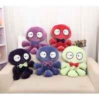 【厂家直销】批发创意紫色章鱼可爱抱枕靠垫精品娃娃玩偶网店代理