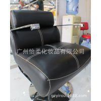 新款高档理发椅 超厚坐垫不锈钢美发椅 升降理容剪发椅