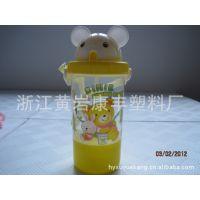 销售儿童吸水杯 儿童水壶 卡通猫头盖子 迪士尼水壶