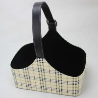 【厂家直销】酒店皮具用品高档PU圣诞礼品篮 可定制LOGO