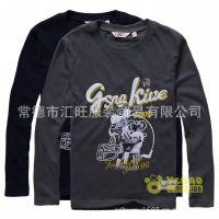 品牌野豹童装 2013秋新款男童纯棉长袖T恤 印花打底衫上衣 正品