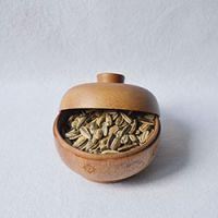 巨匠厂家定制高档西式环保家居收纳特色天然原竹碳化竹制果盒