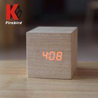 2015新款LED木头钟实木工艺钟品牌设计方形钟表 厂家批发