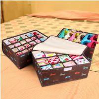 小狗加高加厚 创意收纳盒三件套 有盖收纳箱 文胸内衣袜子整理盒