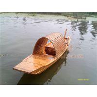 4.5m木质乌篷船 湖面手划船 农用乌蓬船 景区观光木船 田园钓鱼船
