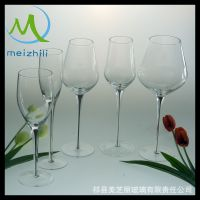 厂家促销高白料 纯手工打造 创意玻璃黑挺香槟杯  红酒杯 高脚杯