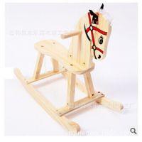 儿童木制玩具批发 儿童摇摇马 实木木马拆装木马 小木马木质