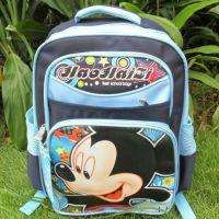 迪士尼卡通系列米奇蓝色带排气垫减负书包 学生背包现货批发