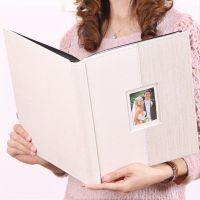 DIY相册本带蜡纸保护 超大本照片高档婚礼品喜庆手工欧式创意影集
