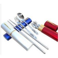 旅行必备迷你餐具 便携餐具 筷子 叉子 勺子套装 盒装大号