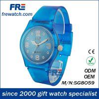 手表工厂供应款畅销透明塑胶表 儿童卡通表 环保SWATCH手表