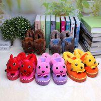 批发2014新款席乐儿童居家拖鞋 卡通熊猫棉拖鞋 防滑保暖棉鞋