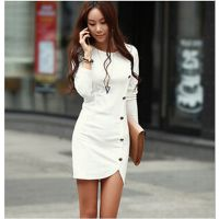 速卖通热销韩版春装新款长袖连衣裙包臀裙