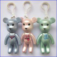3寸 4 寸 popobe 暴力熊 么么熊 momo熊 钥匙扣搪胶玩具礼品挂件 可订制