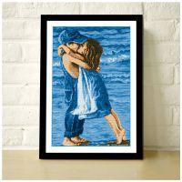 新款卡通爱情海的童年精准印花布卧室客厅十字绣义乌品牌厂家批发