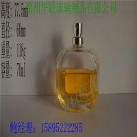 厂家直销玻璃香水瓶 80ml斜放多菱角香水瓶 高档优质香水瓶子批发