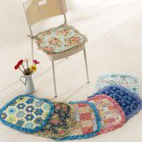 新款促销  全棉绗缝椅子坐垫  木耳花边餐椅垫 批发  一件代发