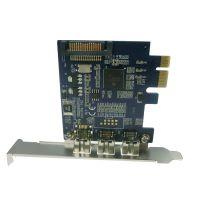 PCIE转1394B扩展卡 高清视频采集卡1394采集卡 火线转接卡