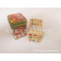 迷你小方形铁盒供应 马口铁复古金属礼品盒 礼品圣诞图案小铁盒