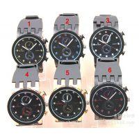 手表供应 Ebay/速卖通外贸热销黑色带V6牌子的男款手表现货批发