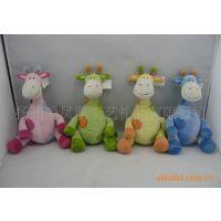 供应毛绒玩具长颈鹿 坐姿卡通长颈鹿【 超柔材料 婴儿玩具】外贸出口