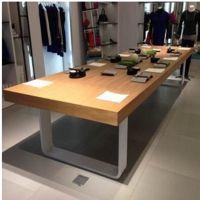 LOFT风格铁艺实木工作台会议桌子   定制