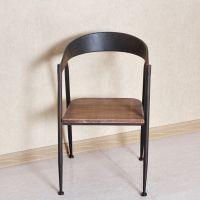苑华美式乡村家具实木餐椅复古做旧铁艺实木餐椅实木家具餐厅椅子