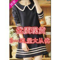2014韩版新款加绒长袖孕妇连衣裙秋冬孕妇裙