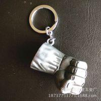 电影挂件 厂家热销复仇者联盟绿巨人拳头钥匙扣浩克的手 钥匙扣