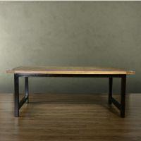 美式铁艺复古电脑办公桌 进口实木大餐桌 休闲桌 餐桌