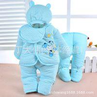一件拿样 今诺贝尔坊纯棉毛 新生婴幼保暖衣套装 宝宝礼包五件套