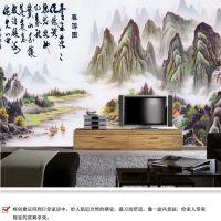 供应中式沙发背景墙壁画 个性店面装饰壁画定做
