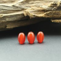 【静雅】天然红玛瑙米珠散珠批发8*12mm DIY佛珠配件材料桶珠批发