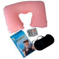 金皇冠时尚植绒旅游三宝充气U型枕 护颈枕 4色可选择可以印logo