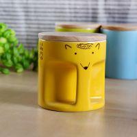 新款 简约圆形几何刺猬陶瓷杯  厂家直销批发200ml