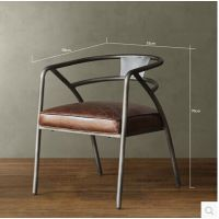 美式乡村咖啡椅桌椅组合做旧复古餐椅铁艺沙发椅子时尚电脑椅