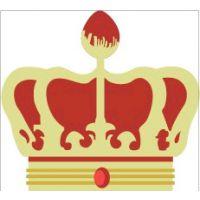 定做皇冠标牌  金属贴标 金属水晶标牌 校徽工号牌 胸牌不锈钢