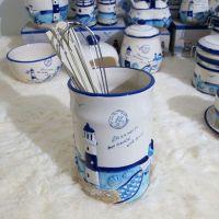 陶瓷沥水筷子笼筷子筒 地中海浮雕厨房饭店餐厅酒店摆台餐具