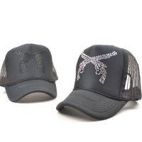 双枪网帽子卡车货车帽平沿帽嘻哈帽翻檐帽女男士夏季韩版