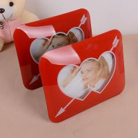 O1812  GD104AU-1箭穿心3D立体双心相框 新婚照宝宝照片相框相册