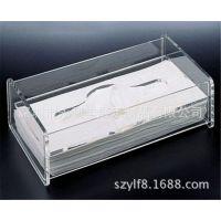 有玻璃餐纸盒 透明方形纸巾盒 亚克力 压克力餐具 定做加工