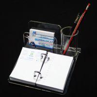 有机玻璃 亚克力制品 名片架示笔筒笔记陈列架 来样定制